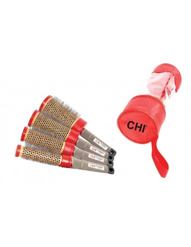 Pack CHI Turbo Ceramic Round Nylon Brush