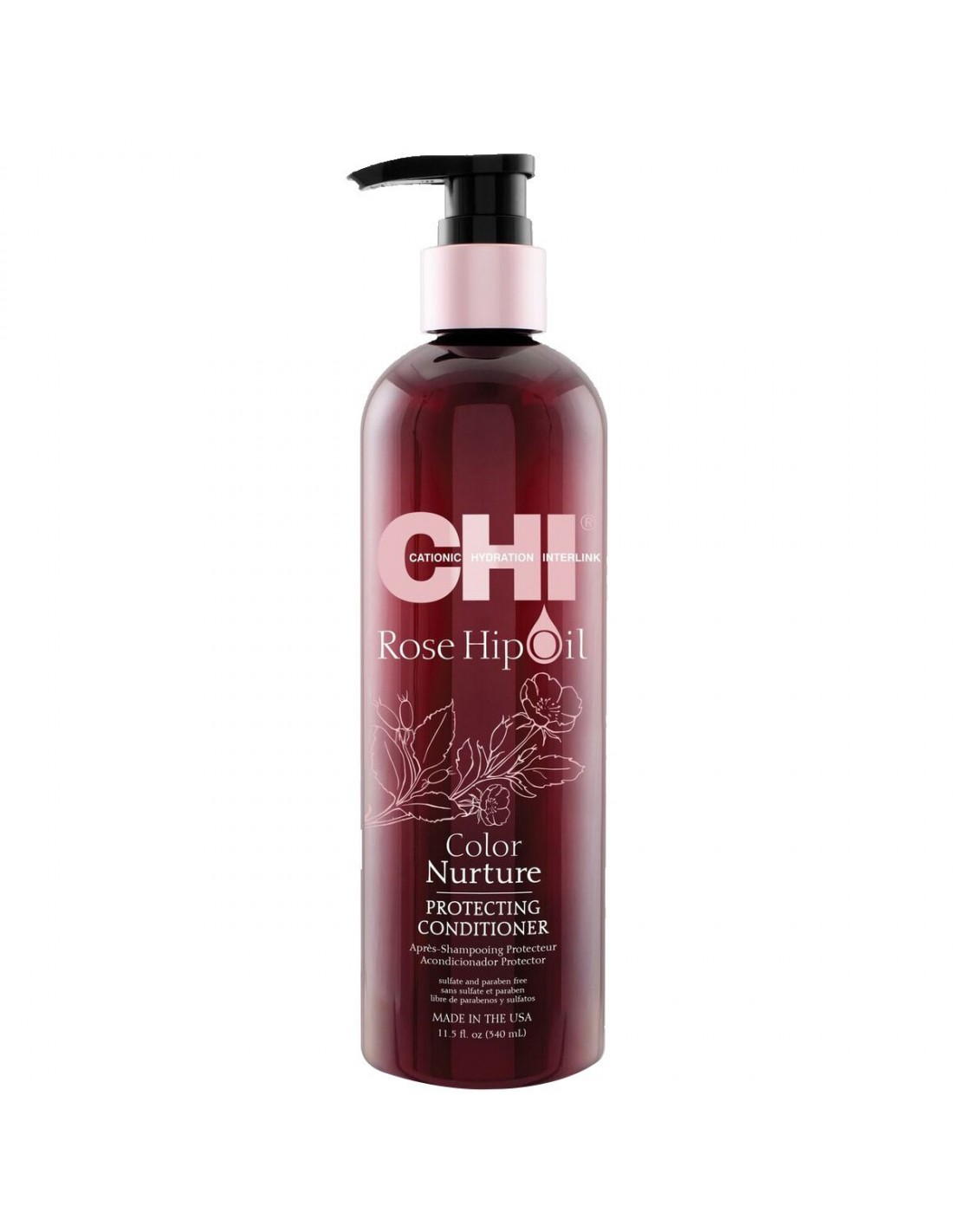 Après-shampooing CHI Rose Hip Oil