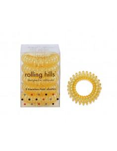 Transparent Gold Elastique Cheveux Invisible Rolling Hills