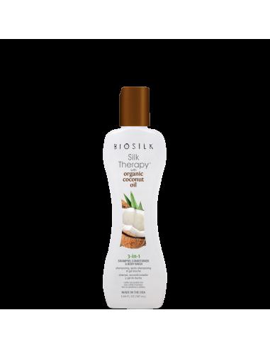 BioSilk Silk Therapy & Organic Coconut Oil 3 in 1
